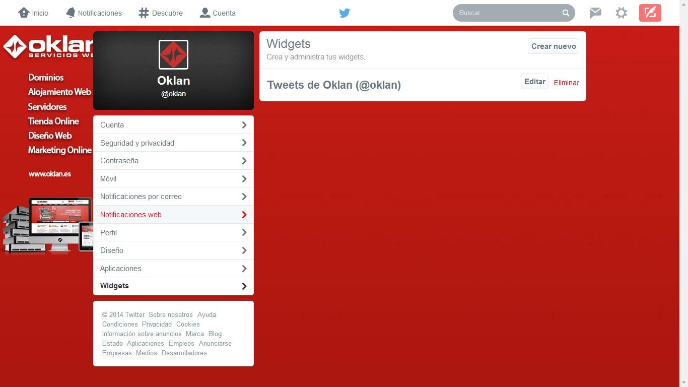 Insertar timeline de Twitter en WordPress