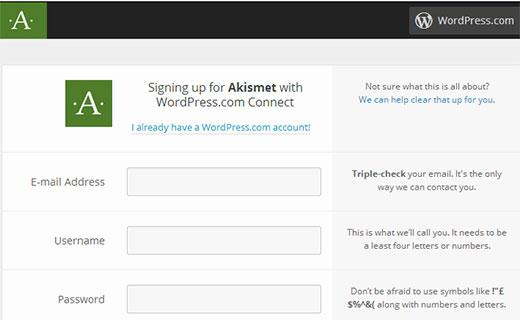 Darse de alta en Akismet WordPress