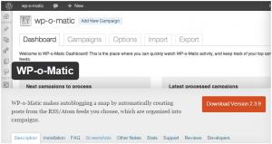 web oficial de wp-o-matic