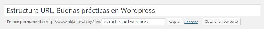 Crear estructura URL